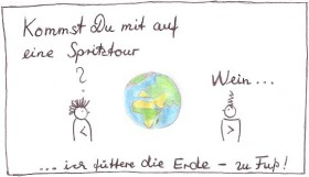 cartoon zum Expo Thema